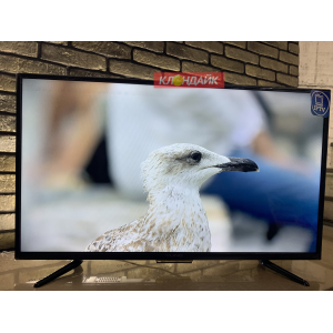 Телевизор Yuno ULX-39TCS221 - 100 сантиметров, полноценный Smart с Wi-Fi, настроен под ключ в Русском фото